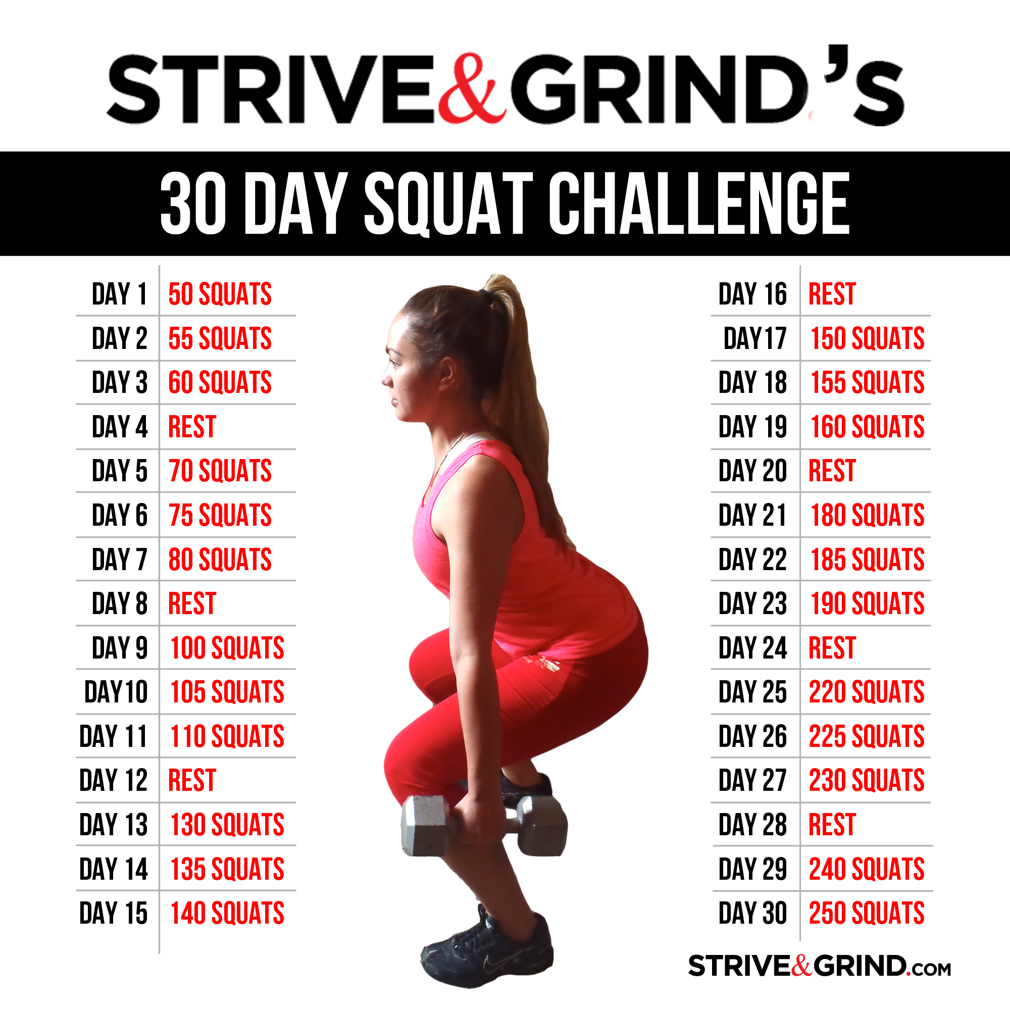 Facebook 30 Day Squat Challenge 30 Day Squat Challenge